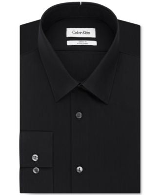 Calvin Klein Infinite Stretch Fitted Solid Dress Shirt