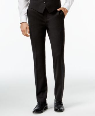 Bar III Charcoal Solid Extra Slim-Fit Pants