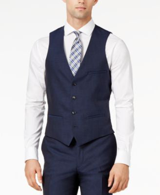 Bar III Midnight Blue Slim-Fit Vest
