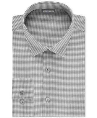 Kenneth Cole Reaction Fitted Techni-Cole Stretch Check Dress Shirt