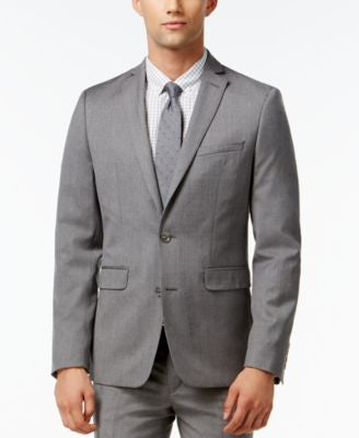Bar III Light Grey Extra Slim-Fit Jacket