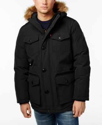 Levi's® Heavyweight Faux-Fur-Trim Hooded Parka