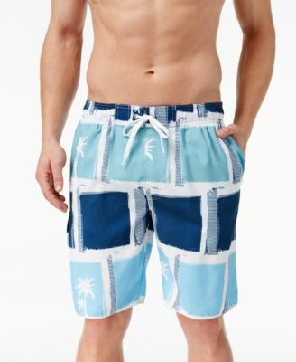 Newport Blue Big and Tall Hollywood Squares Swim Trunks