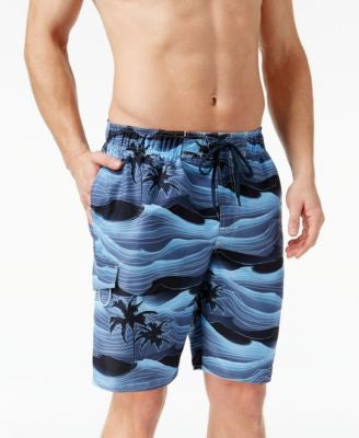 Newport Blue Men's Big and Tall Storm Palms Swim Trunks