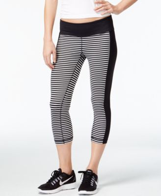 Ideology Striped Cropped Leggings, Only at Vogily