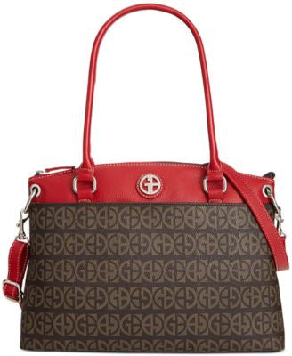 Giani Bernini Block Signature Pop Large Round Satchel