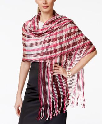 Collection XIIX Multi Stripe Metallic Net Wrap