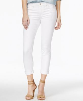 Joe's Icon Cropped Marlie White Jeans