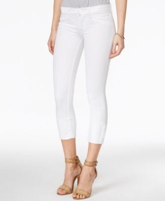 Hudson Jeans Muse Cropped Skinny White Wash Jeans