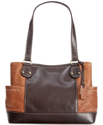 Giani Bernini Sandalwood Leather Shopper, Only at Vogily