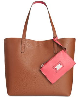 Style & Co. Clean Cut Reversible Tote with Wristlet, Only at Vogily