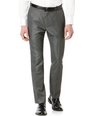 Perry Ellis Big and Tall Slim-Fit Micro-Twill Heathered Pants