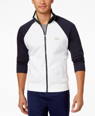 BOSS Green Men's Full-Zip Colorblocked Knit Jacket