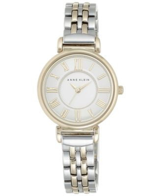 Anne Klein Women's Two-Tone Stainless Steel Bracelet Watch 30mm AK/2159SVTT