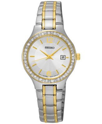 Seiko Women's Special Value Two-Tone Stainless Steel Bracelet Watch 27mm SUR752