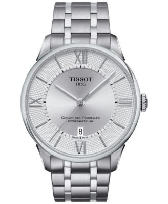 Tissot Men's Swiss Automatic Chemin Des Tourelles Stainless Steel Bracelet Watch 42mm T0994071103800
