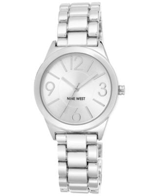 Nine West Women's Stainless Steel Bracelet Watch 32mm NW/1663SVSB