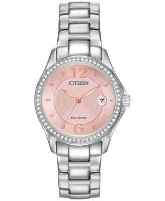 Citizen Women's Eco-Drive Stainless Steel Bracelet Watch 29mm FE1140-86X