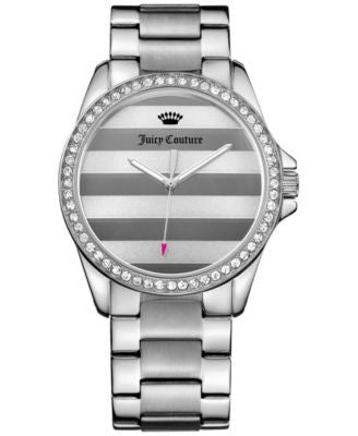 Juicy Couture Women's Laguna Silver-Tone Stainless Steel Bracelet Watch 36mm 1901288
