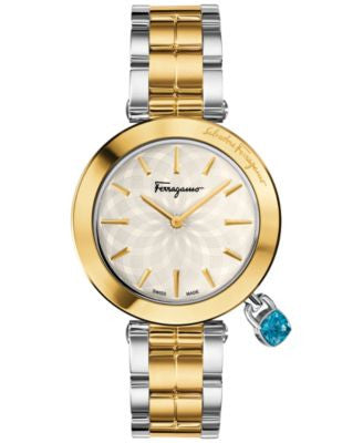 Ferragamo Women's Swiss Intreccio Two-Tone Stainless Steel Bracelet Watch 36mm FIC040015