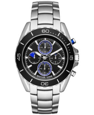 Michael Kors Men's Chronograph Jetsetter Stainless Steel Bracelet Watch 43mm MK8462