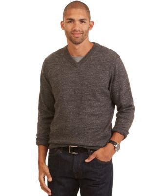 Nautica Big and Tall Cotton V-Neck Sweater