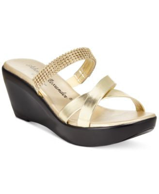 Athena Alexander by Callisto Merideth Wedge Slide Sandals