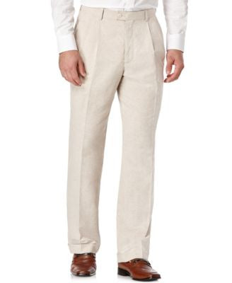 Perry Ellis Portfolio Classic-Fit Linen Pleated Pants