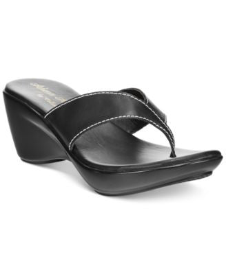 Athena Alexander by Callisto Abby Thong Wedge Sandals