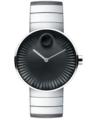Movado Men's Swiss Edge Stainless Steel Bracelet Watch 40mm 3680006