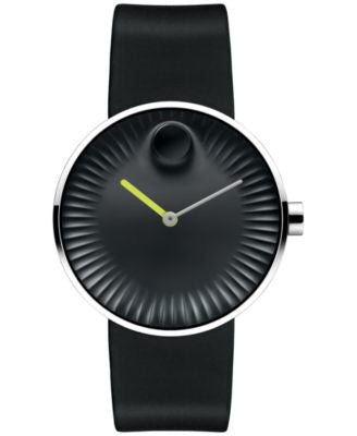 Movado Men's Swiss Edge Black Rubber Strap Watch 40mm 3680003