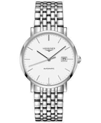 Longines Men's Swiss Automatic The Longines Elegant Collection Stainless Steel Bracelet Watch 39mm L