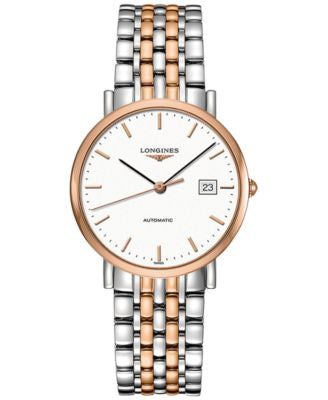 Longines Men's Swiss Automatic The Longines Elegant Collection Two-Tone Stainless Steel Bracelet Wat