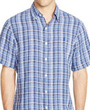 Polo Ralph Lauren Men's Short-Sleeved Checked Linen Shirt