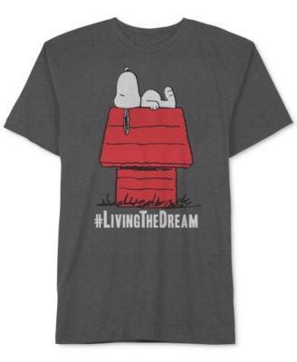 Jem Peanuts Snoopy #Living the Dream Big & Tall T-Shirt