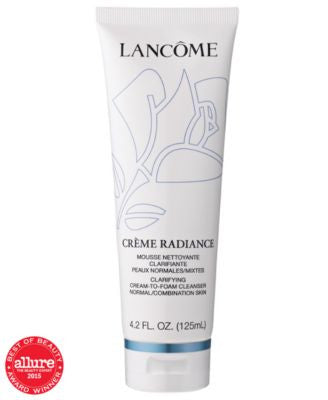 Lancôme CRÈME Radiance Clarifying Cream-to-Foam Cleanser, 4.2. fl oz.