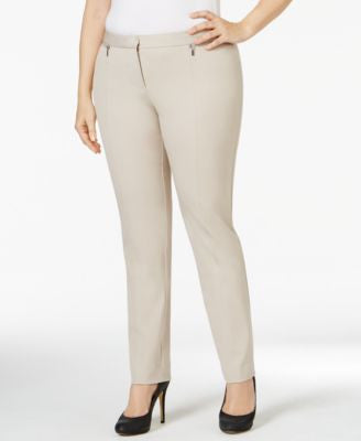 Alfani Plus Size Zip-Trim Skinny Pants, Only at Vogily