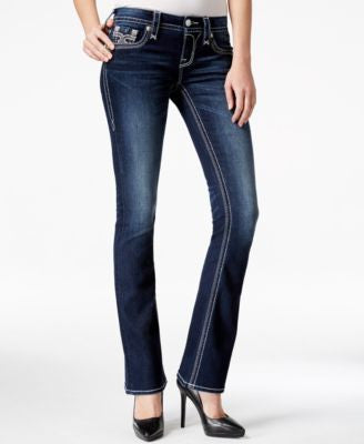 Rock Revival Tibbie Bootcut Dark Blue Wash Jeans, Only at Vogily