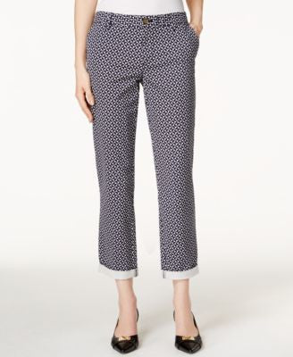 Tommy Hilfiger Geo-Print Chino Cropped Pants