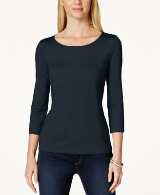 Charter Club Three-Quarter-Sleeve Top, Only at Vogily