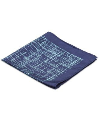 Ryan Seacrest Distinction Spotlight Plaid Pocket Square, Only at Vogily