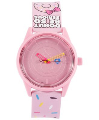 Harajuku Lovers Unisex Solar Pink PU Strap Watch 40mm HL2314