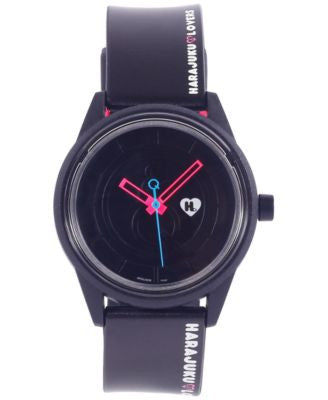 Harajuku Lovers Unisex Solar Emoji Black Strap Watch 40mm HL2322