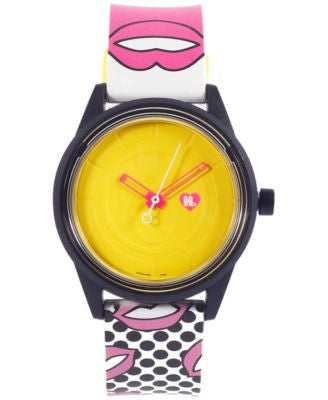 Harajuku Lovers Unisex Solar Emoji Smoochy Strap Watch 40mm HL2316