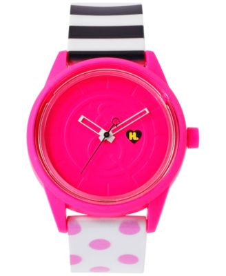 Harajuku Lovers Unisex Solar Limited Edition Pop Art Strap Watch 40mm HL2109