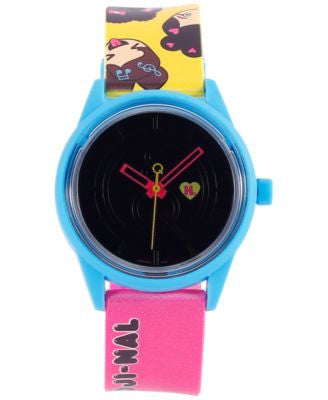 Harajuku Lovers Unisex Solar Emoji Emoji-nal Strap Watch 40mm HL2319