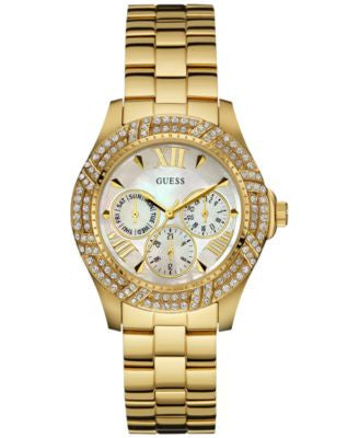 GUESS Women's Gold-Tone Stainless Steel Bracelet Watch 40mm U0632L2
