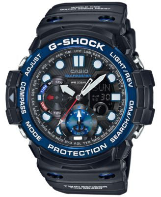 G-Shock Men's Analog-Digital Gulfmaster Black Bracelet Watch 50x53mm GN1000B-1A