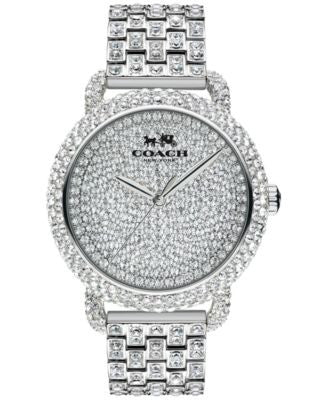 COACH WOMEN'S CRYSTAL ACCENT STAINLESS STEEL BRACELET WATCH 36MM 14502364