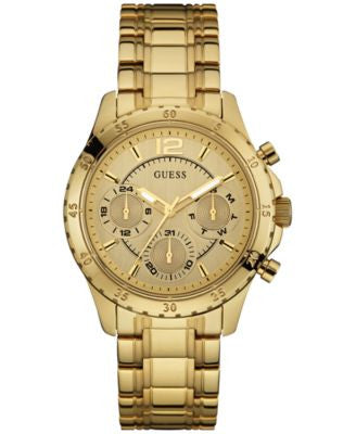 GUESS Women's Gold-Tone Stainless Steel Bracelet Watch 50mm U0704L1